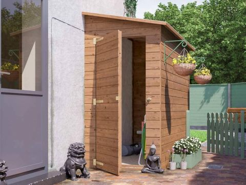 8x4 Anya 3-Sided Pent Shed - Right Hand Facing