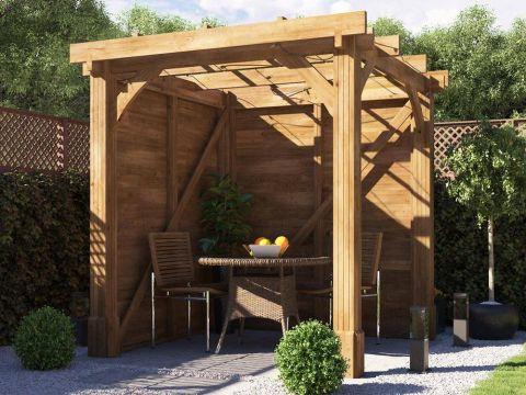 7x7 Atlas Solid Wooden Pergola