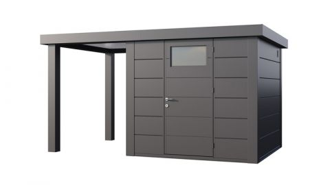 13x8 Telluria Eleganto Steel Shed Small Left Extension (Anthracite Only)