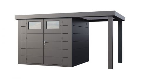 14x8 Telluria Eleganto Steel Shed Small Right Extension (Anthracite Example)