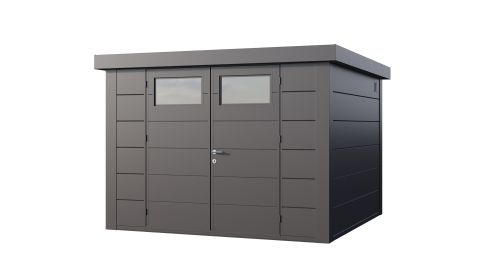 11x10 Telluria Eleganto 3330 Steel Shed (Antracite Finish)
