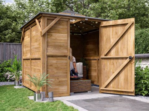 8x8 Erin Gazebo with Dome - Fully Enclosed Louvre from the Shed Factory Ireland