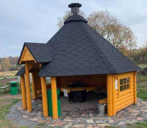 14x14 Viking Open Grill BBQ Cabin 14.9 M2