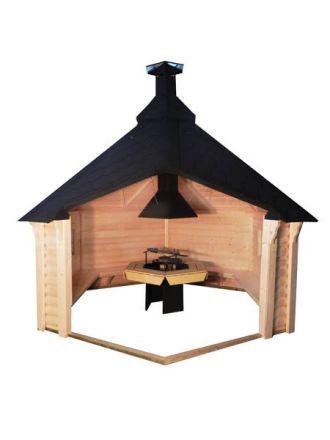 13x11 Viking Nordic Open Grill BBQ Cabin 9.2 M2