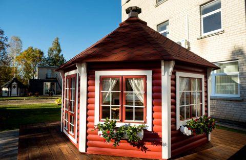 15x15 Glazed Garden pavilion (Painted example)