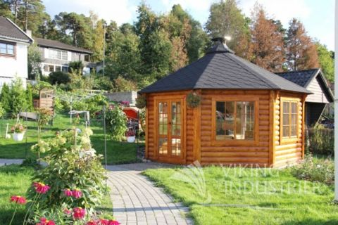 16x16 Glazed Garden Pavilion from the Shed Factory Ireland