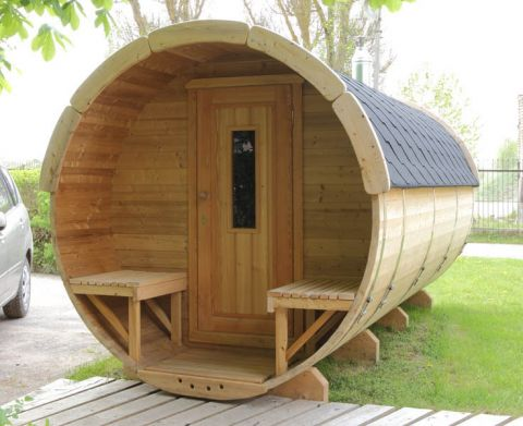 11x6 Viking Sauna Barrel with Changing Room Option