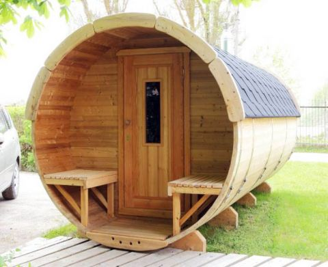 13x7 Barrel Style Garden Sauna
