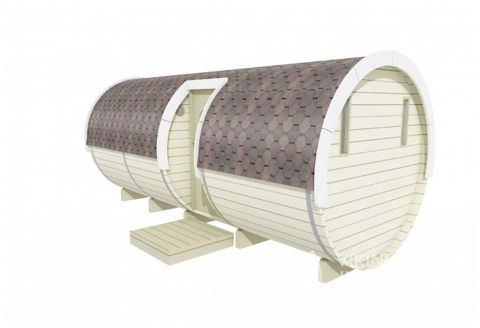 Camping pod with side entrance
