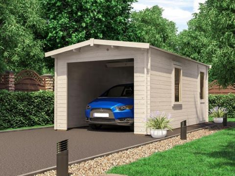 Wooden Car Garage