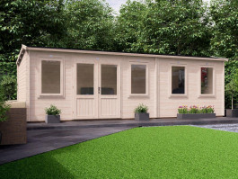 Premium Lantera Log Cabin with Sidestore