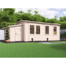 Modetro Log Cabin with Sidestore