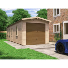 Wooden Car Garage Tandem Metal Door