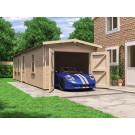Wooden Car Garage Tandem