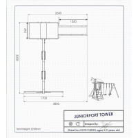 JuniorlFort Climbing Frame Dimensions