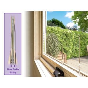 Rhine Log Cabin Window