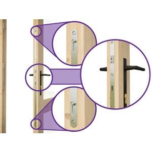 Rhine Log Cabin Door Features