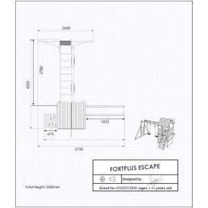 FortPlus Escape Climbing Frame