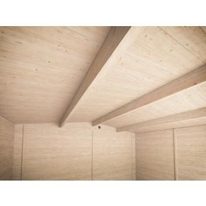 Rhine Log Cabin interior roof