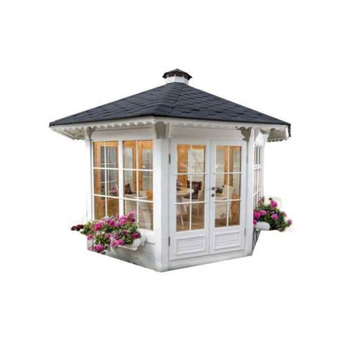 11x11 Glazed Garden Pavilion Gazebo