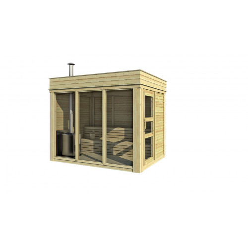 7x11 Viking Outdoor Sauna Cube