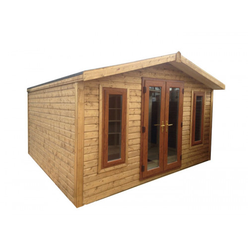 16x12 32mm Logwood Apex garden office