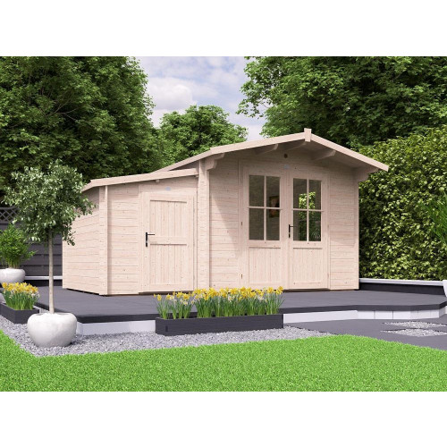 15x10 PremiumPlus Avon Log Cabin with Sidestore (45mm)