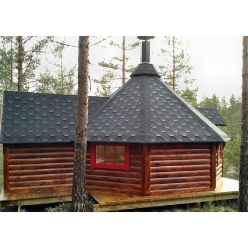 20x15 Viking Extended BBQ hut