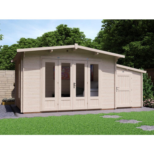 17x10 HuggaBear Log Cabin with Sidestore (28mm)