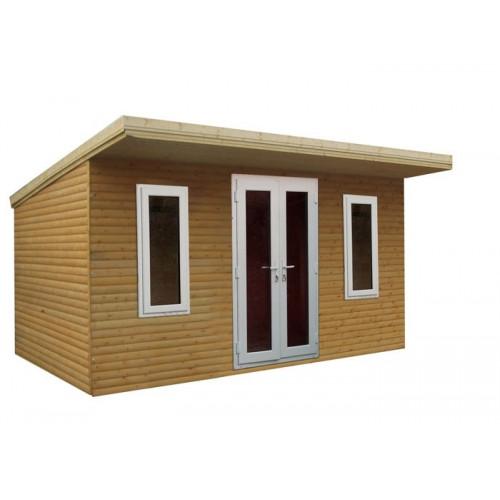 12x12 32mm Logwood Pent garden office
