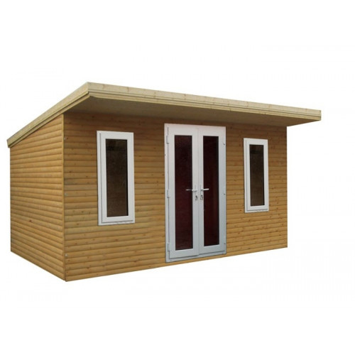12x10 32mm Logwood Pent garden office