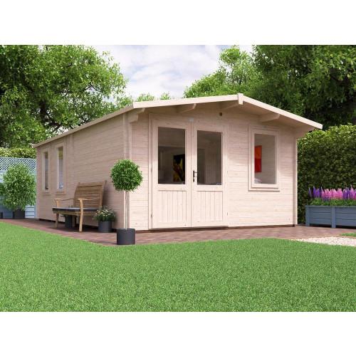 13x20 Rhine Grande Log Cabin (45mm)