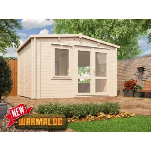 13x10 Rhine Insulated Log Cabin (62mm)