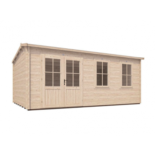 18x15 PremiumPlus Modetro Log Cabin (45mm)