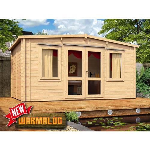 16x10 Severn Insulated Log Cabin (62mm)