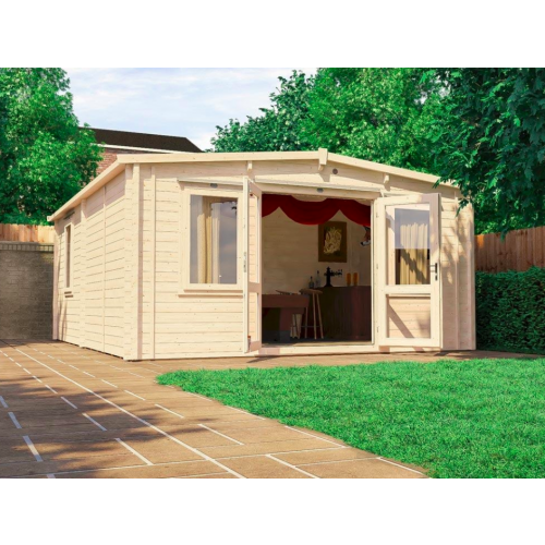 16x19 Severn Insulated Log Cabin (62mm)