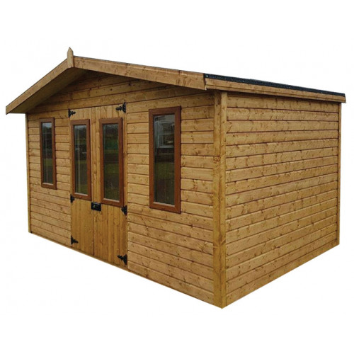 12x10 Chalet Logwood Summerhouse (32mm)