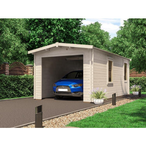 18x10 Dunsterhouse Wooden Garage Lo-roof (28mm)