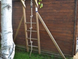 Knotted Rope For Climbing Frames