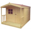 10ft x 8ft Chalet Cabin Kids Playhouse with veranda