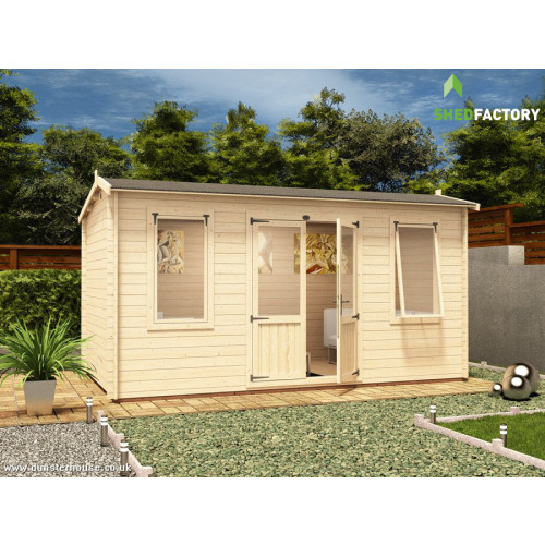 14x8 PremiumPlus Lantera Log Cabin (28mm)