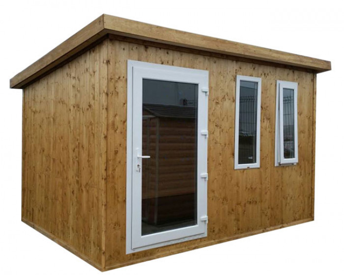 Shed factory 10x8 fully insulated garden office with for 10 x 8 garden room