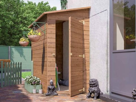 8x4 Left hand facing Anya 3-Sided Pent Shed