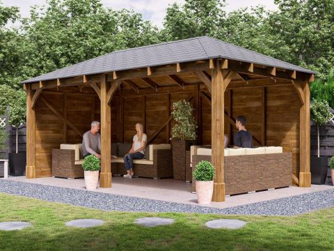 20x11 Atlas Walled Chunky Gazebo