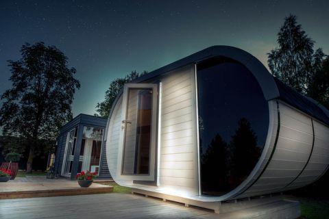 14x8 Delight Garden Sauna Front