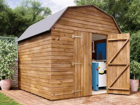 8x8 Dutch Barn Pressure Treated Shed