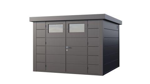 10x10 Telluria Eleganto 3030 Steel Shed (Antracite Finish)