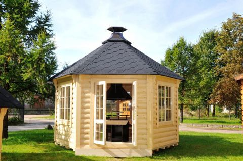 12x12 Glazed Garden Pavilion