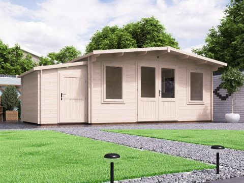 PremiumPlus Severn Log Cabin with Sidestore Main