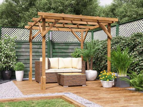 Utopia Wooden Pergola from the Shed Factory Ireland